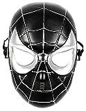 5 - 8 anni - Maschera per Costume Travestimento Carnevale Halloween da Spiderman Super Eroe Uomo Ragno Nero Bambino
