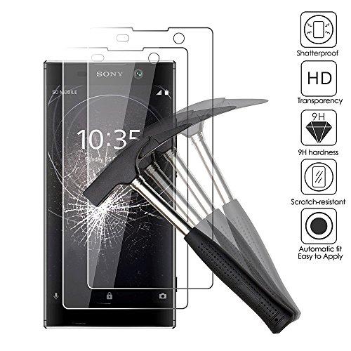 [2 pièces] Sony Xperia L2 Verre trempé, EJBOTH téléphone protection écran films protecteurs pour Sony Xperia L2 - ultra-résistant avec une dureté 9H Anti-bulle.