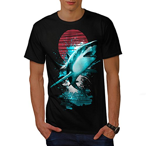 Groß Weiß Hai Ozean Jagd Herren L T-shirt | Wellcoda (Türkei-jagd-t-shirt)