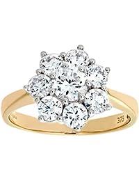 Citerna Damen-Ring 9 K Gelbgold Zirkonia