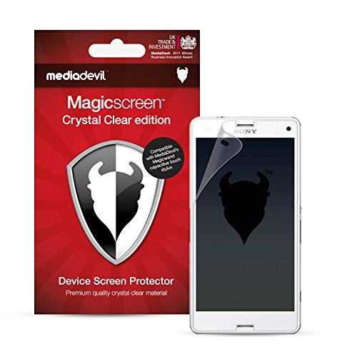 MediaDevil Sony Xperia Z3 Compact Protection Écran : Transparent Clair (Invisible) - (2 x Protèges-Écran) Magicscreen