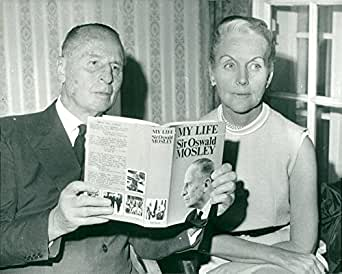 Vintage photo of Oswald Mosley with his wife at the press conference for the book My Life
