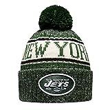 New Era NFL Sideline Bobble Knit 2018/2019 Season Beanie (New York Jets)