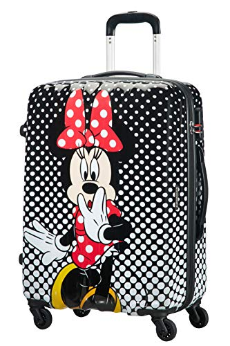 American Tourister Disney Legends Spinner M Valigia per bambini, 65 cm, 62.5 L, Multicolore (Minnie Mouse Polka Dot)
