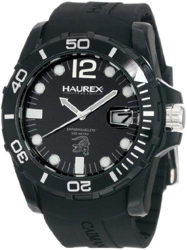 Haurex Italy - N1354UNN - Montre Homme - Quartz Analogique - Bracelet Caoutchouc Noir