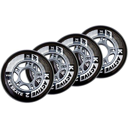 K2 Skates 76mm Active Wheel 4-Pack Inline Skate Ersatzrollen 4er Pack 30B3001.1.1