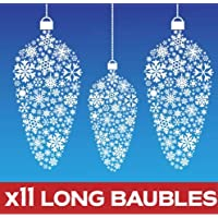 Aurum92 Christmas Bauble Window Stickers Clings Long Design - New