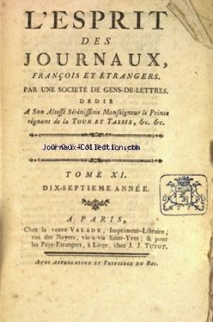 ESPRIT DES JOURNAUX (L') du 01/11/1788