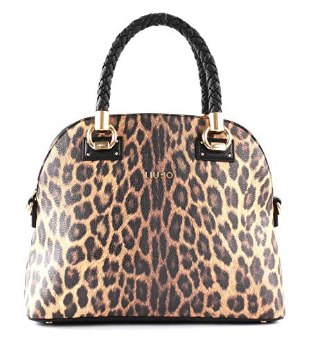 Beige Boston Bag (Liu Jo Boston Bag Leopardo Marrone)