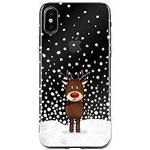 JAMMYLIZARD Carcasa para iPhone XS MAX Funda de Silicona Transparente [ Colección de Navidad ] Gel