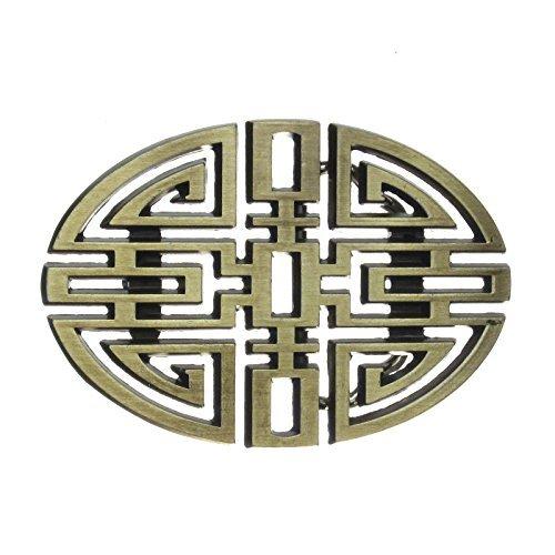 Ovales Buckle Chinesischer Knoten, China, Messing, Gürtelschnalle