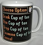 Computer Gaming Choose Option Design Tea Mug
