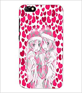 PrintDhaba twins D-4988 Back Case Cover for HUAWEI HONOR 4X (Multi-Coloured)