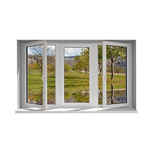 Tatoutex adesivi trompe l' oeil finestra l' stagno, l 130cm x h 78cm