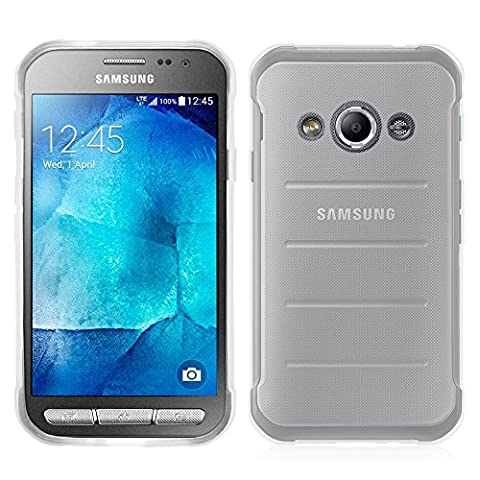 Samsung Galaxy Xcover 3 (2016) Value Edition SM-G389F Étui HCN PHONE® Coque Silicone Gel Souple Ultra Fine pour Samsung Galaxy Xcover 3 SM-G388F - TRANSPARENT