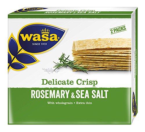Wasa Knäckebrot Delicate Crisp Rosmarin, 10er Pack (10 x 190g)