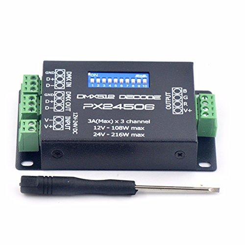 MASUNN Px24506 DMX 512 Decoder Driver Verstärker Controller Für RGB LED Strip Light DC12V-24V
