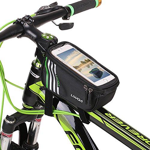 Lixada Borsa Manubrio Ciclismo Bicicletta Frontale Tubo Telaio Smartphone Pacco Titolare Impermeabile Touch Screen in PVC Trasparente 5.7 Pollice
