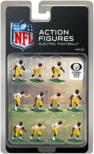 White Uniform NFL Action Figure Set by Tudor Games (Steelers Football-uniform)