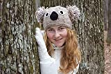 Koala knitted hat Koala knit beanie Girl beanie Teen girl beanie Animal hat Girls hat Knit wool hat Koala beanie Gift for teen girl winter beanie animal hats Autumn hats Girlfriend gift Fall beanie