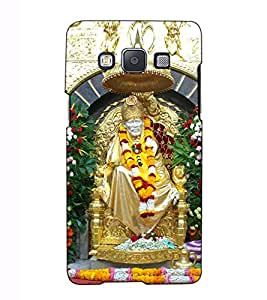 Fuson Designer Back Case Cover for Samsung Galaxy A5 (2015) :: Samsung Galaxy A5 Duos (2015) :: Samsung Galaxy A5 A500F A500Fu A500M A500Y A500Yz A500F1/A500K/A500S A500Fq A500F/Ds A500G/Ds A500H/Ds A500M/Ds A5000 (Saibaba Pratishthan theme)