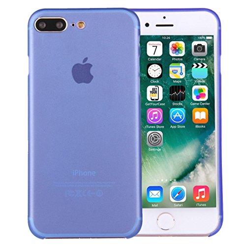 wortek iPhone 7 Plus Hülle Case Schutzhülle (5,5 Zoll) - integrierter Schutz für Kamera Linse - Ultra dünn / Ultra Slim - Farbe Blau Transparent