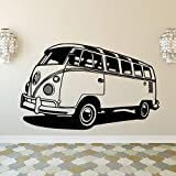 Adesivo da parete in vinile per camera dei bambini Murale Volkswagen Camper Van Classic Antique Decal Wall Decoration   42x67cm