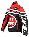 Racing Jacke für Kinder in rot, Motorradjacke, Textil Jacke (XL)