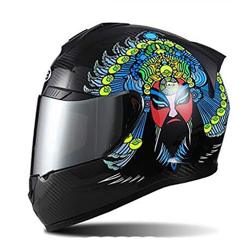 Ultraleichte Full-Face Off-Road-Helm, MX/ATV Dirt Bike Rennen Sicherheit Flip up Helm/DOT/ECE Zertifiziert Eroad-Rennen Vier Jahreszeiten Motocross-Helm,XXL