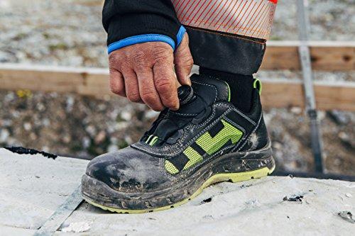 hellyhansen 78209–Scarpe di sicurezza S3HRO SRC Oslo Boa WW scarpe da lavoro con allacciatura Boa, Giallo, 78209 Giallo