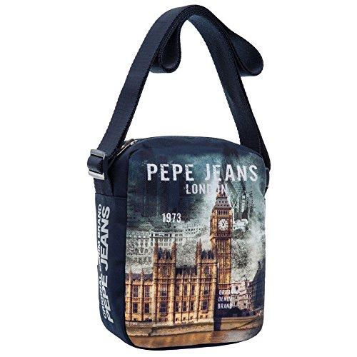 Pepe Jeans Bandolera, Diseño London, Color Azul, 2.35 Litros