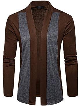 Ai.Moichien Herren Open Front Cardigan, Mode Herbst Baumwollmischung lange Länge drapieren Cape