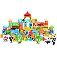 Preisvergleich für QXMEI MEI Kinderspielzeug Kinder Blöcke Vorschule Bildung Kreative Holz Lernspielzeug Produkt Größe: 9.4 Zoll * 7.9 Zoll * 3.9 Zoll