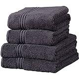 Linens Limited Supreme - Toalla de baño grande (algodón egipcio, 500 g/m2), color negro