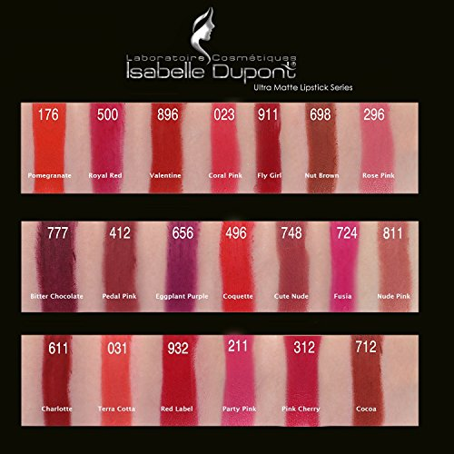 20 Colours - Long Lasting Intense Wear ULTRA MATTE Lipstick by Isabelle Dupont � - CUTE NUDE