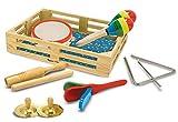 Zauberspiel Melissa & Doug - Holzspielzeug Instrumente Holzkiste, 37x28x18 cm, Mehrfarbig