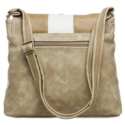d150e3531bfd6 ... CASPAR TS1028 Damen Tasche Handtasche Rucksack Umhängetasche - diverse  Modelle  3851 weiß beige Umhängetasche ...