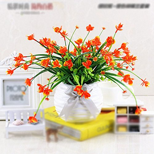 LIXIAOXIN Simulation False Butterfly Orchid Topfpflanzen Dekoration Bonsai Ornamente Orange