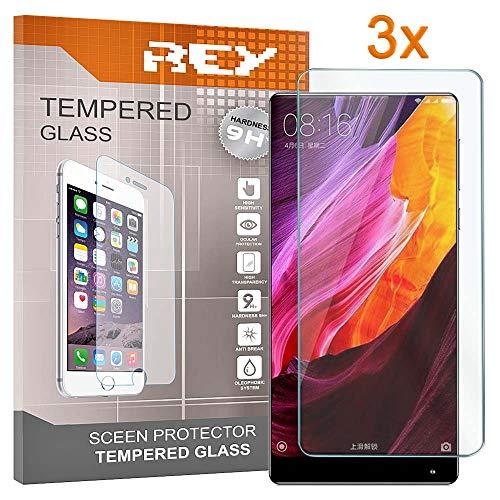 3x Protector de Pantalla para XIAOMI MI MIX 3 - MI MIX 3 5G, Cristal Vidrio Templado Premium