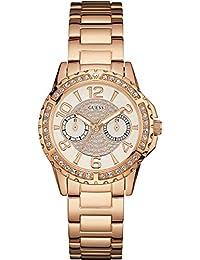 Guess Damen-Armbanduhr Analog Quarz Edelstahl W0705L3