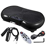ReaseJoy 500W Vibration Plate Crazy Fit Massage Exercise Machine Oscillating Platform Black