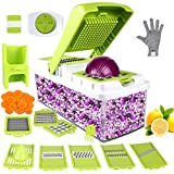 Vegetable Chopper, ONSON Food Chopper Cutter Onion Slicer Dicer, 10 in 1 Veggie
