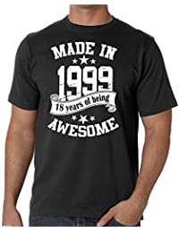 Mens 18th Birthday T-shirt - Made In 1999 - 18 Years Of Being Awesome Gift T-shirt