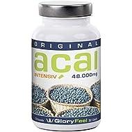 ACAI INTENSIF - la plus forte concentration (25: 1), 30000 mg d'açai par dose quotidienne, 120 capsules pur de...