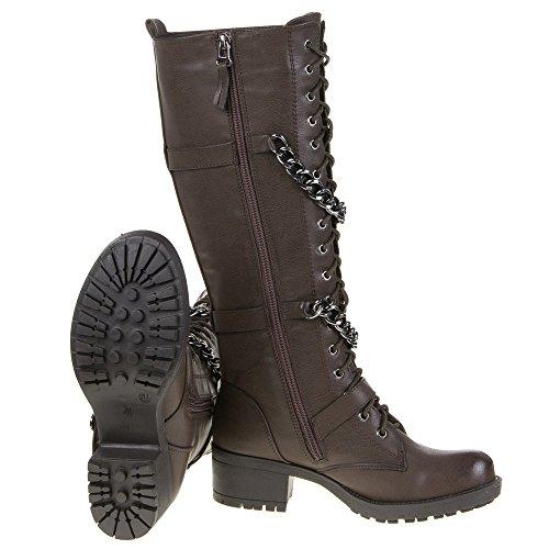 Damen Schuhe, TT-76, STIEFEL Braun TT-76