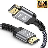 Upgraded HDMI Cable 2m 6 6feet    Never Rupture  Snowkids High Speed HDMI Lead 2 0 Cable Gbps 4K 60Hz Supports Video UHD 2160p 1080p  Ethernet  HDCP 2 2 ARC  Compatible Fire Xbox PS4