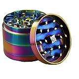 Engshwn Nuovo Design Arcobaleno Color Grinder Erba Frantoio per il Tabacco erba Mill per la lega di Zinco Spice 4 pezzi 50mm set con raschietto polline
