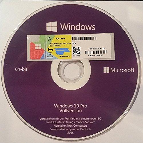 Preisvergleich Produktbild Microsoft Windows 10 Professional OEM Aktivierungsschlüssel
