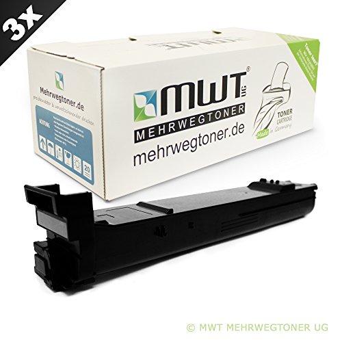 3x MWT Toner für Konica Minolta Magicolor 4650 4690 4695 wie A0DK152 QMS 4650 Black -