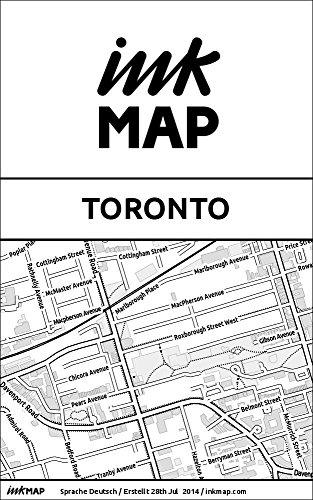 Inkmap Toronto - Karten für eReader, Sehenswürdigkeiten, Kultur, Ausgehen (German)